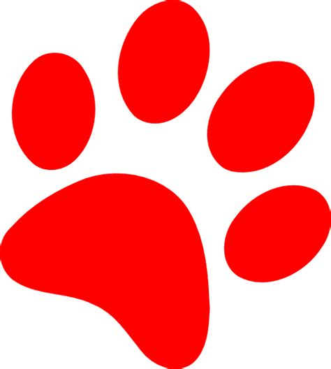 paw print clip paw print clip at clker vector clip royalty free domain