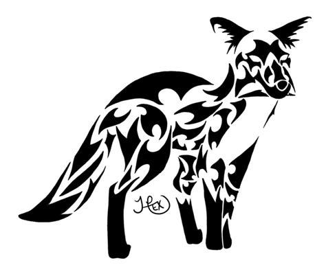 tribal fox by hexephra on deviantart