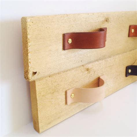 Kitchen Handles With Leather Leather Drawer Cabinet Handle By Thirteenelevenolive On Etsy