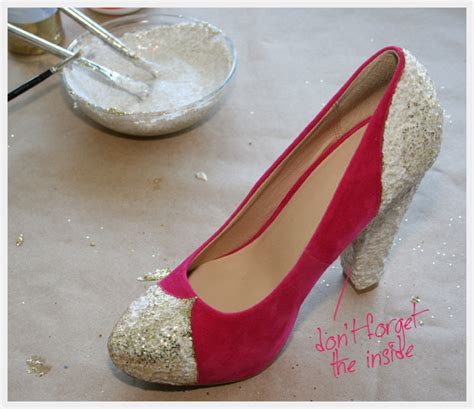 glitter shoes diy diy glitter shoes
