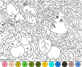 color by number adults s free coloring pages