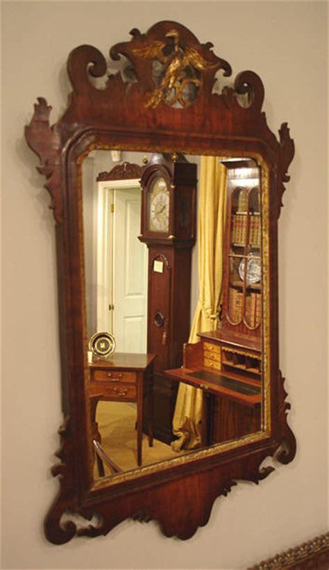 Georgian mahogany fret wall mirror, fret mirror,dwarf