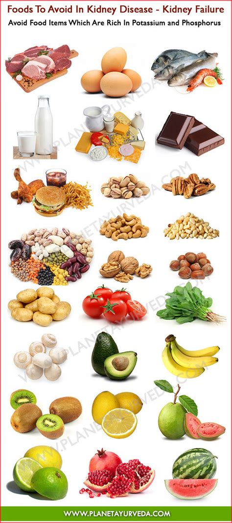 food kidney disease foods to avoid in kidney disease infographic