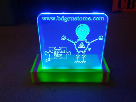 laser engraved with lighted led base bdg customs circuit bitz edge lit led sign laser engraved