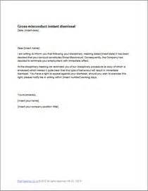 Instant Dismissal Letter Template by Gross Misconduct Instant Dismissal Letter Template