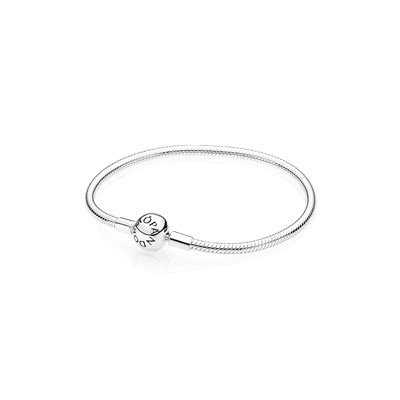 Moments Smooth Silver Clasp Bracelet P 68 moments smooth silver clasp bracelet 590728 bracelets pandora