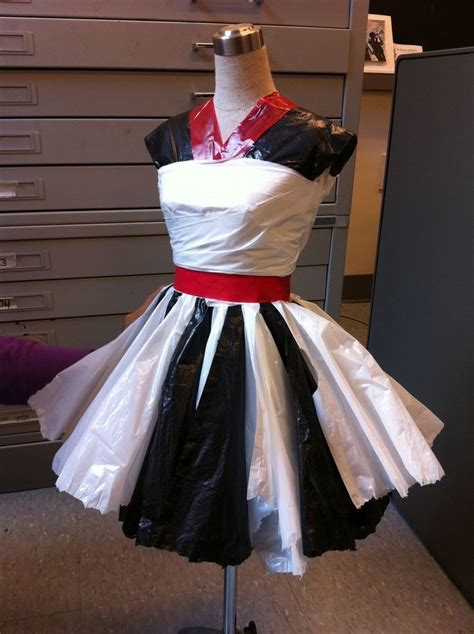 How To Make Paper Costumes - trash bag dress ideas search recycle fashion