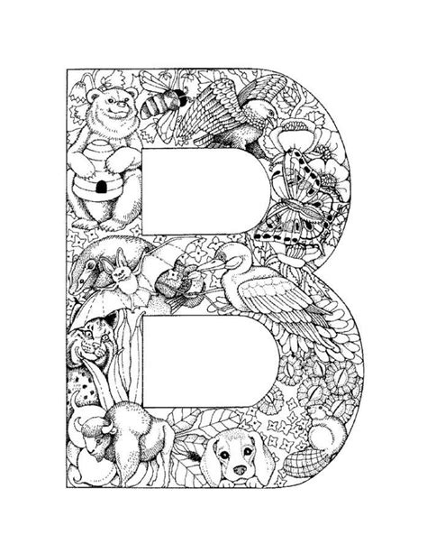 coloring pages for the letter b letter b picture printable alphabet coloring pages b