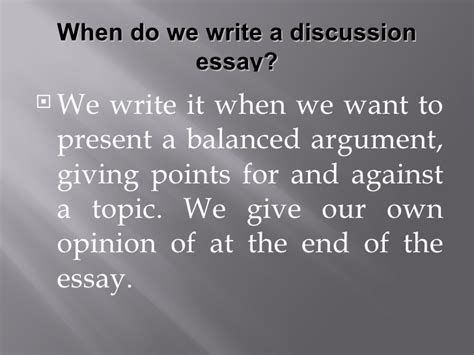 Writing A Discussion Essay by Discussion Essay