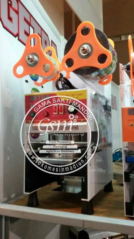 Alat Pres Gelas Plastik Kecil mesin cup sealer otomatis getra toko alat mesin usaha