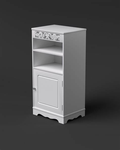st tropez white utility bathroom cabinet with 2 shelves