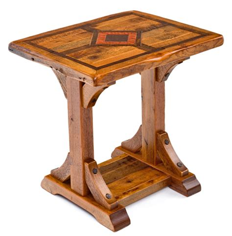 rustic metal and wood end tables wood end table barn wood end table reclaimed end table