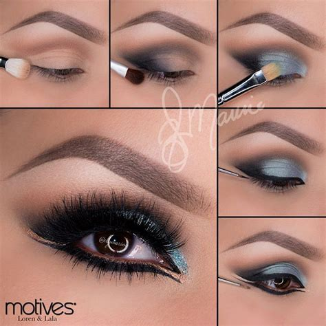 Eyeshadow Gold Tutorial 12 gorgeous blue and gold eye makeup looks and tutorials