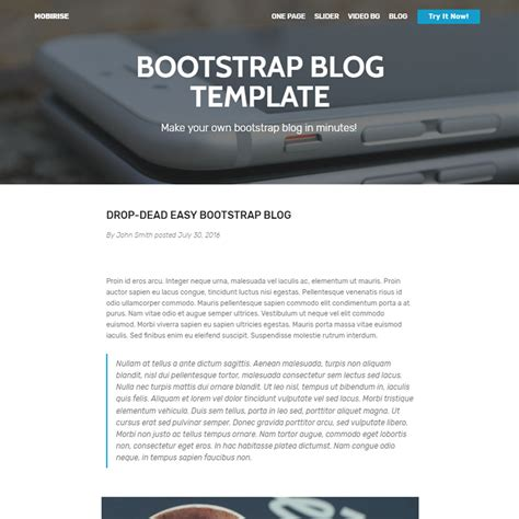 html templates for blogger free download 33 awesome free html5 bootstrap templates 2018