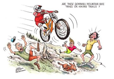 Komik Kolpri Our Field Of No32 mountain biking it s but trail user conflicts on the rise headwaters montana