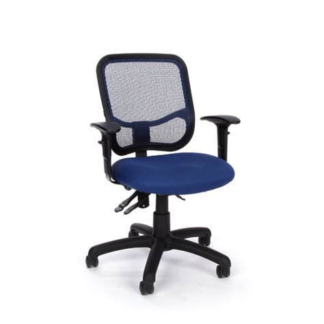 Computer Chair Adjustable Arms by Ofm 130 Aa3 Computer Office Task Chair Mesh Back
