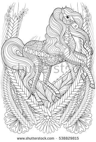 unicorn and flowers an coloring book featuring relaxing and beautiful unicorn coloring pages unicorn gifts for books zentangle stock images royalty free images vectors