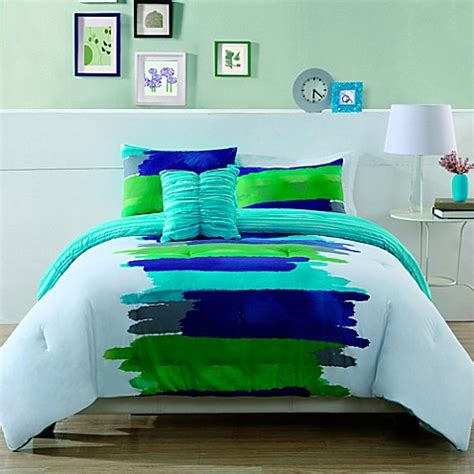 buy watercolor king comforter set from bed bath beyond