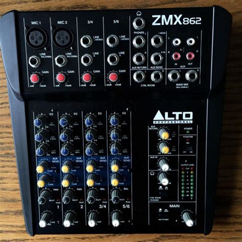 Mixer Alto Zmx alto professional zmx 862 6 channel 2 mixer reverb