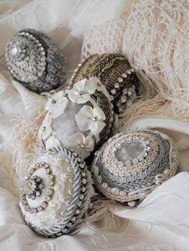 Weihnachtsbaumschmuck Selber Basteln 4918 beautifully detailed with various lace and trims