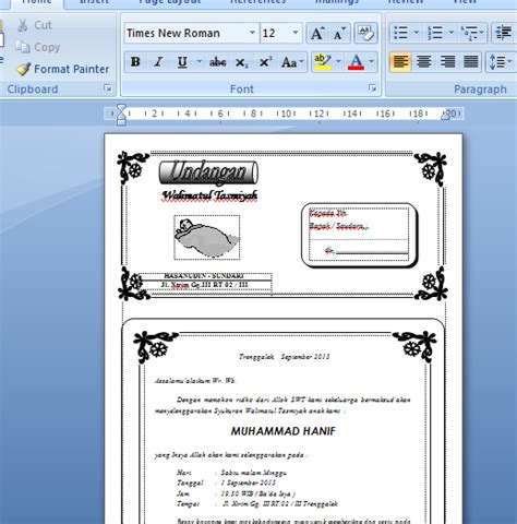 template undangan pernikahan ms word download undangan nikah microsoft word joy studio design