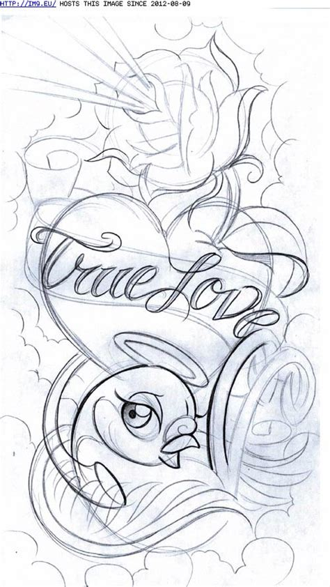 true love tattoo japanese true love heart and bird tattoo sle