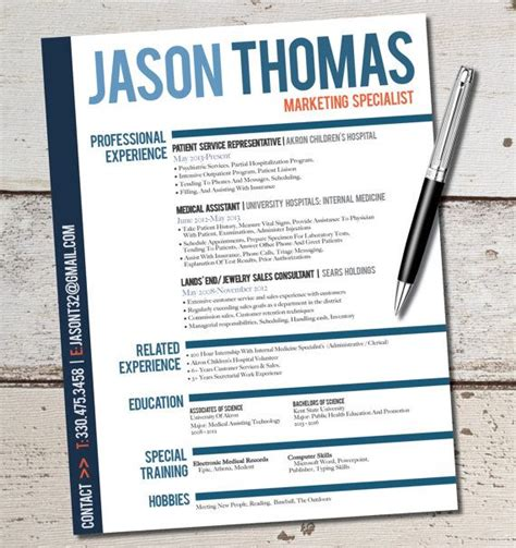 Sle Of Creative Resume The Jason Resume Design Template Business Sales Marketing Customer Serivce Management