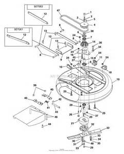 ariens 927063 000101 000399 1232 rer 12hp b s hydro 32 quot deck parts diagram for 28 quot and 32