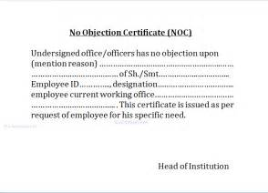 no objection certificate template no objection certificate noc no complaint enquiry