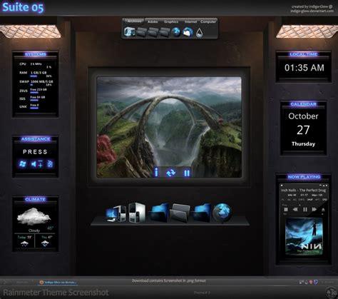 best rainmeter suites rainmeter theme suite 05 by indigo glow on deviantart