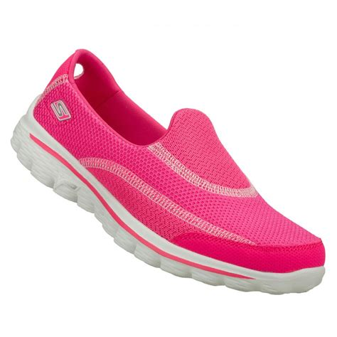 comfortable sneakers for walking skechers skechers go walk 2 hot pink n6 13590 womens