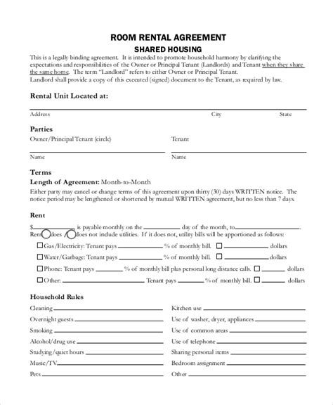 Sle Rental Agreement Contract 7 Documents In Word Pdf Deal Agreement Template