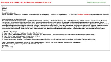 Cover Letter Solution Architect Solutions Architect Title Docs