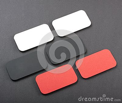 Blank Card Rectangle Curved Corners Template by Blank Business Cards With Rounded Corners Stock Photo