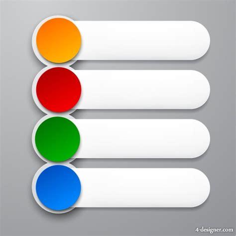 material design header size 4 designer sophisticated digital stickers 03 vector material