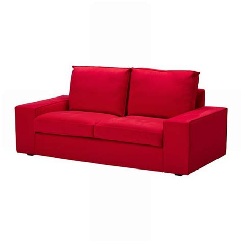 red slipcover sofa ikea kivik loveseat slipcover 2 seat sofa cover ingebo