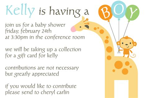 Invite For Baby Shower At Work | work baby shower invitation wording cimvitation