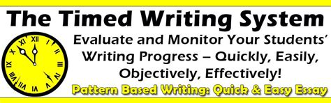 pattern based writing quick easy essay timed writing system evaluate student writing growth and