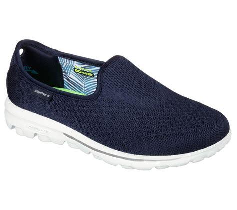 13777 navy skechers shoes go walk blend memory foam fit