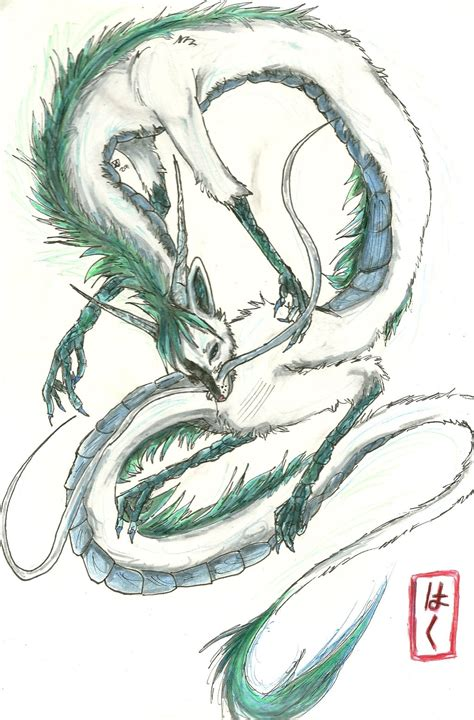 haku dragon tattoo spirited away www pixshark images