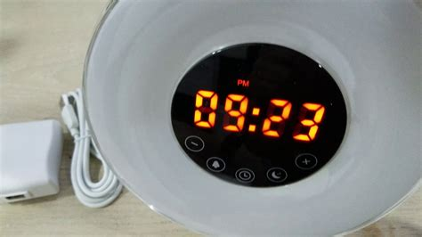 sunlight alarm clock with 6 nature sounds fm radio touch with usb charger