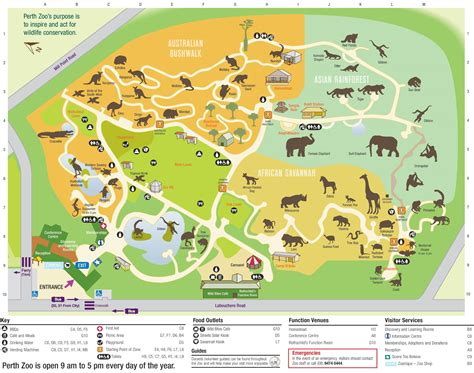zoo map perth zoo map