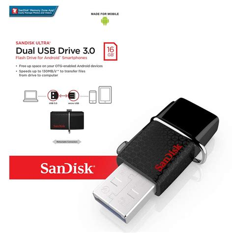 Sandisk Ultra Dual Usb sandisk ultra dual usb flash drive usb 3 0 16gb 7dayshop