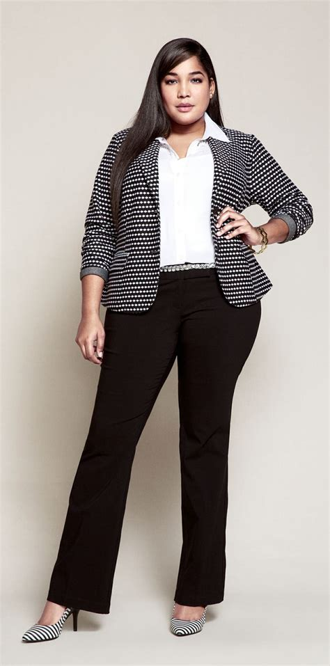 How To Dress Professionally Overweight Young Woman | kill your competitors with plus size business suits