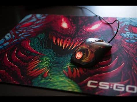 Mousepad Steelseries Qck Cg Go Camo Edition unboxing rival 300 cs go hyper beast edition mousepad hyper beast edition