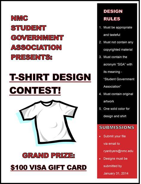 design contest flyer sga t shirt design contest announced nmc communiqu 233