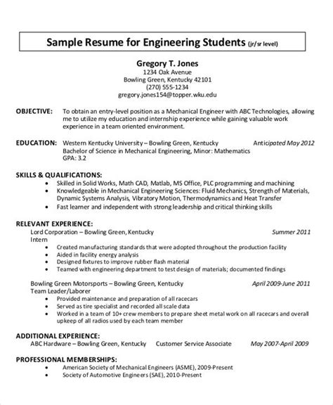 Field Engineer Resume Sle by 100 Mechanical Engineering Skills For Resume Mechanical Engineering Resume Sle