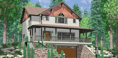 Small Hillside Home Plans by Awesome Hillside House Plans With Garage Underneath