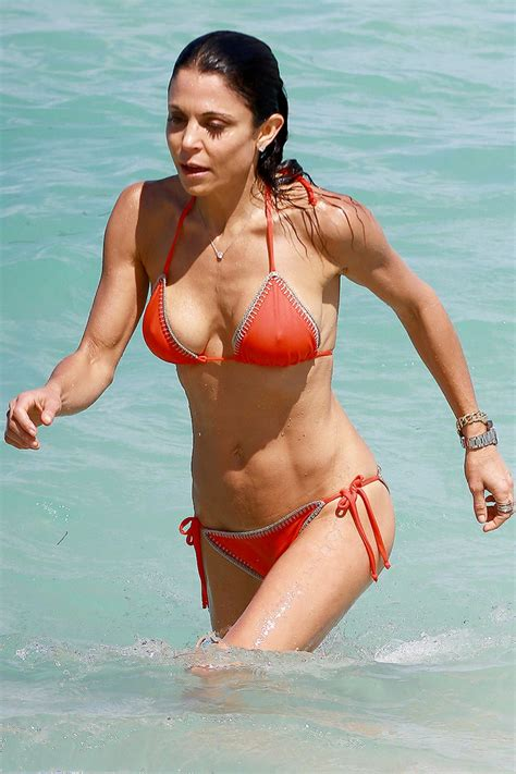 celebrity bethenny frankel bethenny frankel in red bikini bikini in miami celebzz