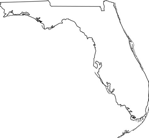 Florida Map Outline Png by Florida State Line Free Clip